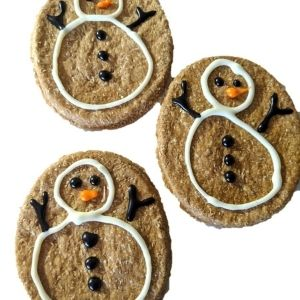 Snowman Cookie Christmas Dog Treats